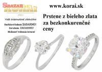 Prstene z bieleho zlata KORAI 251356