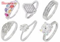Prstene z bieleho zlata KORAI 251357