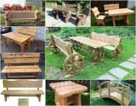Drevený záhradný nábytok, detské domy - výro 255895