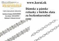 Náramky z bieleho zlata od KORAI