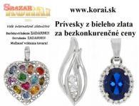 Prívesky z bieleho zlata od KORAI 256726