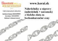 Náhrdelníky a súpravy z bieleho zlata od KORAI