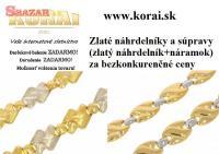 Zlaté náhrdelníky a súpravy od KORAI