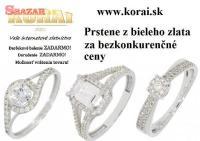Prstene z bieleho zlata od KORAI 258760