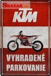 KTM - vyhradené parkovanie