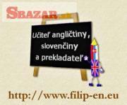 Angličtina, slovenčina - výučba