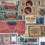 Staré bankovky, papierové peniaze Československ