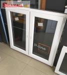 Na predaj nové biele plastové okno 1250 x 1100 262454