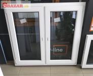 Na predaj nové biele plastové okno 1250 x 1100 262456
