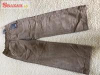 Predám nové hnedé menčestrové nohavice zn. ZA 263869