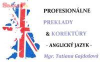 Preklady a korektúry: angličtina