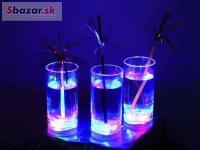 LED poháriky 14 cm, 3 ks