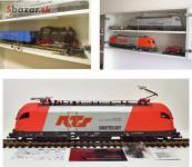Lokomotíva+vagón pre záhradnú železnicu