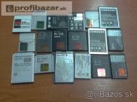 Užívané baterky rôznych značiek do telefónov